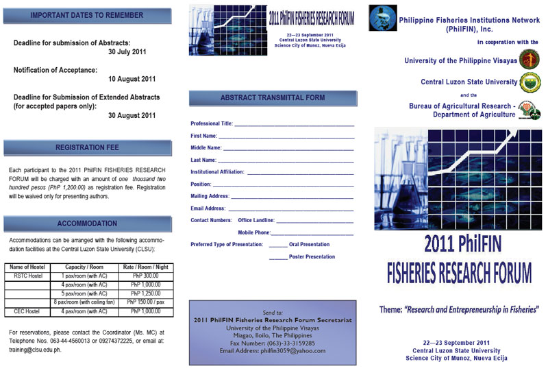 2011 PhilFIN fisheries research forum