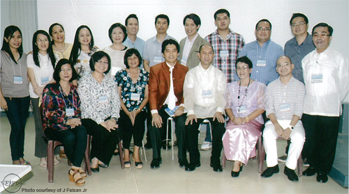 Officers of PSM – Visayas including AQD's Dr. Edgar Amar (seated, 3rd from right), Dr. Rolando Pakingking Jr (standing, 3rd from right), and Mr. Joseph Faisan Jr (standing, 6th from right)