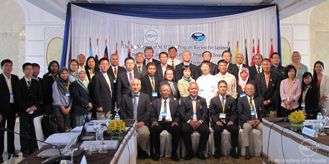 Evaluators and officials from member countries, SEAFDEC Secretariat & Departments