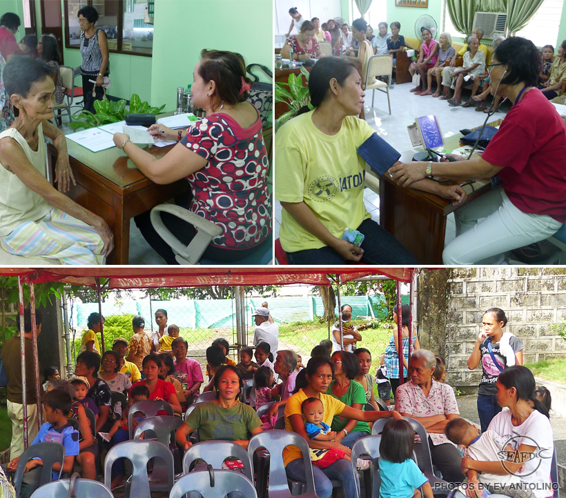The indigents of Brgy. Buyu-an and Brgy. Nanga in Tigbauan were given priority during the medical mission