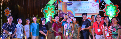 Participants from SEAFDEC/AQD including former Chief Dr. Joebert Toledo gather as AQD received a plaque of appreciation in recognition of its 40 years contribution to the aquaculture industry during the Networking Night. Incumbent AQD Chief Dr. Ayson and Dr. Toledo also received plaques of appreciation in recognition of their support to the aquaculture industry.