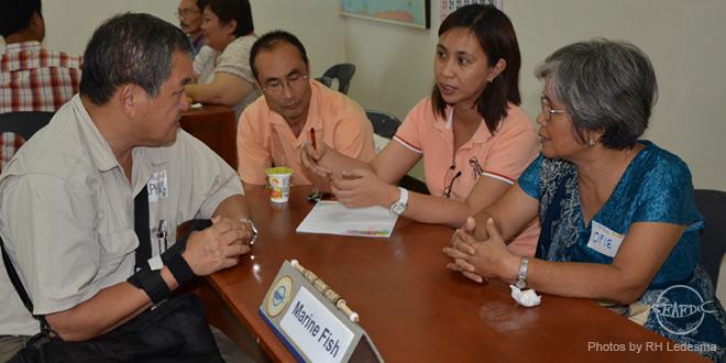 AQD's marine fish experts during the aquaculture clinic