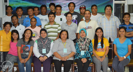 "AT LAST! BFS staff and the ""Ulang"" trainees pose during the closing ceremony"