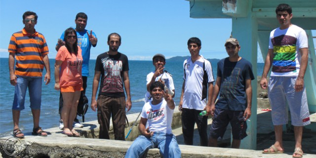 Trainees at a grouper cage farm in Capiz