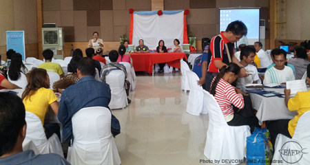 The second day of the workshop was the Aquaculture Clinic,  moderated by Dr. Fe Dolores P.Estepa.  The Panel of Experts was composed of  SEAFDEC/AQD's Dr. Mae R. Catacutan on Nutrition, Feeds and Feeding Technologies; Dr. Rolando V.  Pakingking on Fish Health Management and Diseases;  Dr. Ma. Junemie Hazel L. Ramos on Resource Management,  Enhancement and Environmental Monitoring and Dr. Nerissa  D. Salayo on The Economics of Aquaculture and Social Issues.