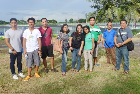 The trainees visit a private shrimp farm in Negros Occidental