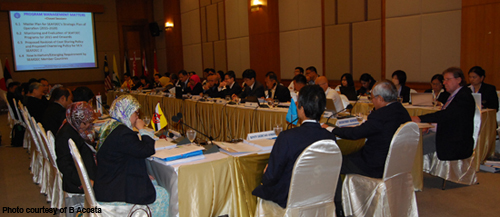 Participants discussing during the meeting