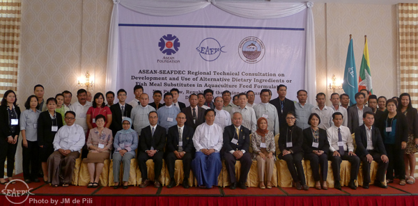 Participants of the ASEAN-SEAFDEC RTC on Development and Use of Alternative Dietary Ingredients or Fish Meal Substitutes in Aquaculture Feed Formulation