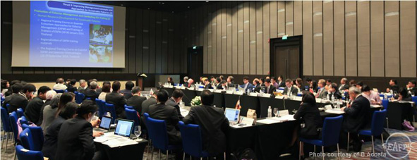 Participants of the 47th SEAFDEC Council Meeting during the roundtable discussions