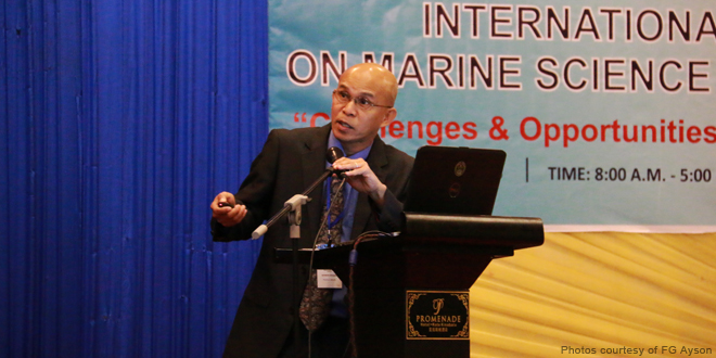 AQD Chief Dr. Ayson during his keynote presentation at ICOMSA 2015 in Kota Kinabalu, Malaysia