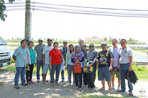 The participants visit shrimp pond in Negros Occidental