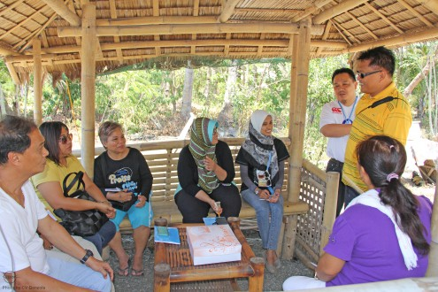 The trainees interview the owner of hatchery in Makato, Aklan