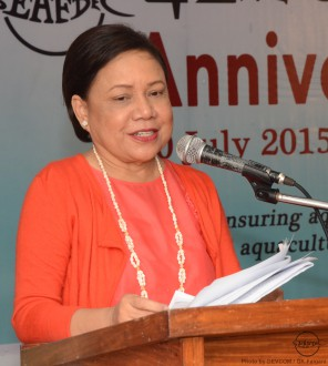 Senator Cynthia Villar delivers her keynote speech