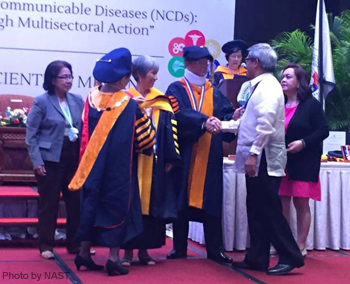 Dr. Jurgenne H. Primavera (3rd from left) during her investiture as one of the academicians of the National Academy of Science and Technology, Philippines on 9 July 2015