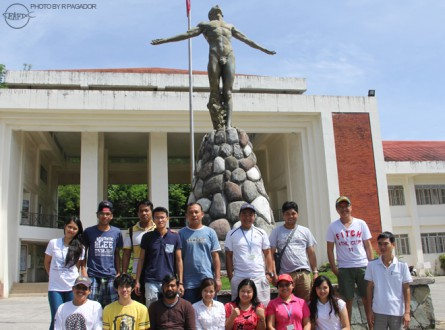 MarFish trainees during a tour to University of the Philippines Visayas in Miag-ao