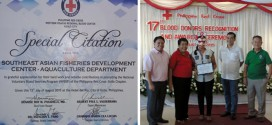 SEAFDEC/AQD receives special citation from Philippine Red Cross