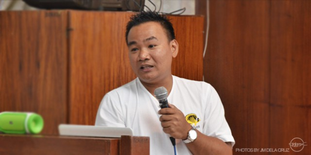 Mr. Joselito Ramos during his presentation