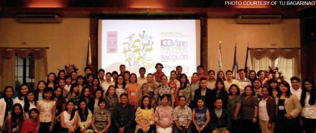 Participants of ICOM 2015 Philippine Conference on Museums for a Sustainable Society at the University of St La Salle, Bacolod City