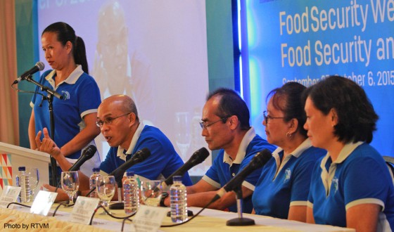 (L-R) TID Head Dr. Junemie Lebata-Ramos, AQD Chief Dr. Felix Ayson,  AQD Deputy Chief Dr. Takuro Shibuno, TVDD Head Dr. Fe Parado-Estepa and RD Head Dr. Evelyn Grace de Jesus-Ayson entertaining questions from the press