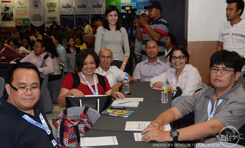 (From left) SEAFDEC/AQD participants Dr. Rolando Pakingking Jr, Dr. Evelyn Grace Ayson, SEAFDEC/AQD Chief Dr. Felix Ayson, Ms. Angela Denise Bilbao (standing), Dr. Edgar Amar, and Mr. Gerald Gonzaga (rightmost)
