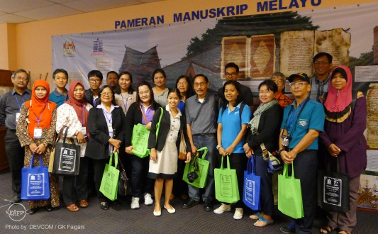 The participants at the National Library of Malaysia