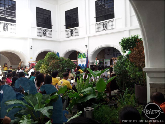 Dr. Jessica Sales, an expert on ecosystems, during the launching of the 2nd Iloilo Province Biodiversity and Watershed Week at Casa Real, Iloilo City