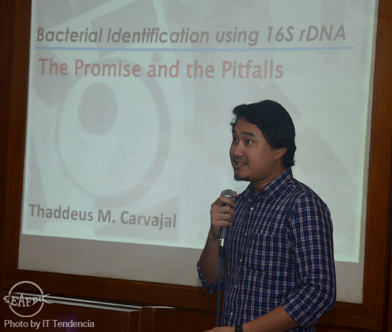 Mr. Jeffrey Galvez of De La Salle University lectures on polymerase chain reaction