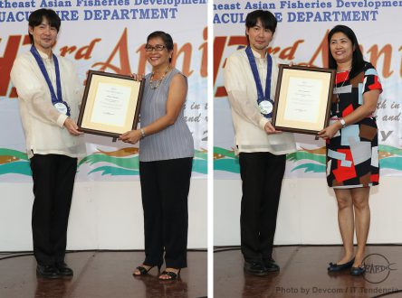 SEAFDEC/AQD Scientist Dr. Emilia Quinitio and Researcher Ms. Shelah Mae Buen Ursua receive their new appointments