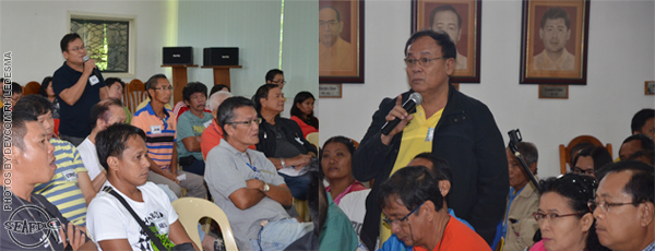 Attendees actively participate during the open forum