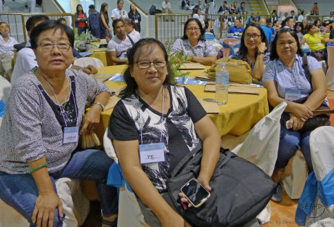 (L-R) SEAFDEC/AQD Associate Scientist Ms. Jocelyn Ladja, Technology Verification and Demonstration Head Dr. Fe Dolores Estepa, Scientists Dr. Eleonor Tendencia & Dr. Mae Catacutan, and Researcher Ms. Gregoria Pagador during the 1st National Aquaculture Summit
