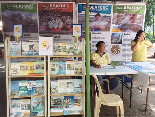 "SEAFDEC/AQD's booth at the ""Aqua Kapihan: 5th AquaMarine Expo"""