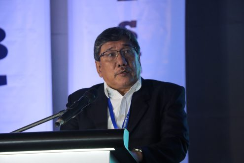 Dan Baliao, chief of the Aquaculture Department of the Southeast Asian Fisheries Development Center, pushes for environment-friendly tiger shrimp farming during the 12th Philippine Shrimp Congress.